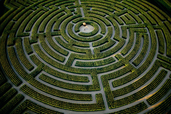an amazing maze: labyrinth in Reignac-sur-Indre, France